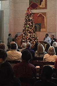 lighting of the Christmas tree at MTBH memorial service